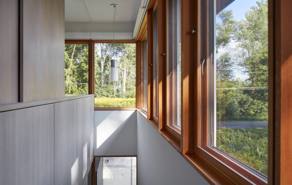 clear vertical grain douglas fir and rubio monocoat finish and triple glaze Loewen windows and doors