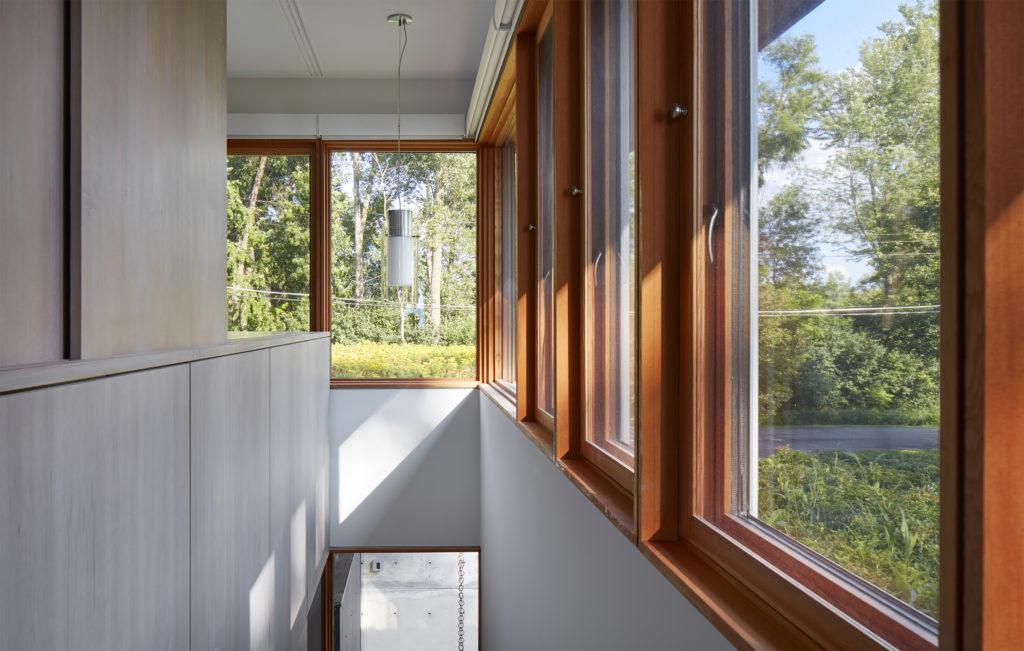 clear vertical grain douglas fir and rubio monocoat finish and triple glaze Loewen windows and doors