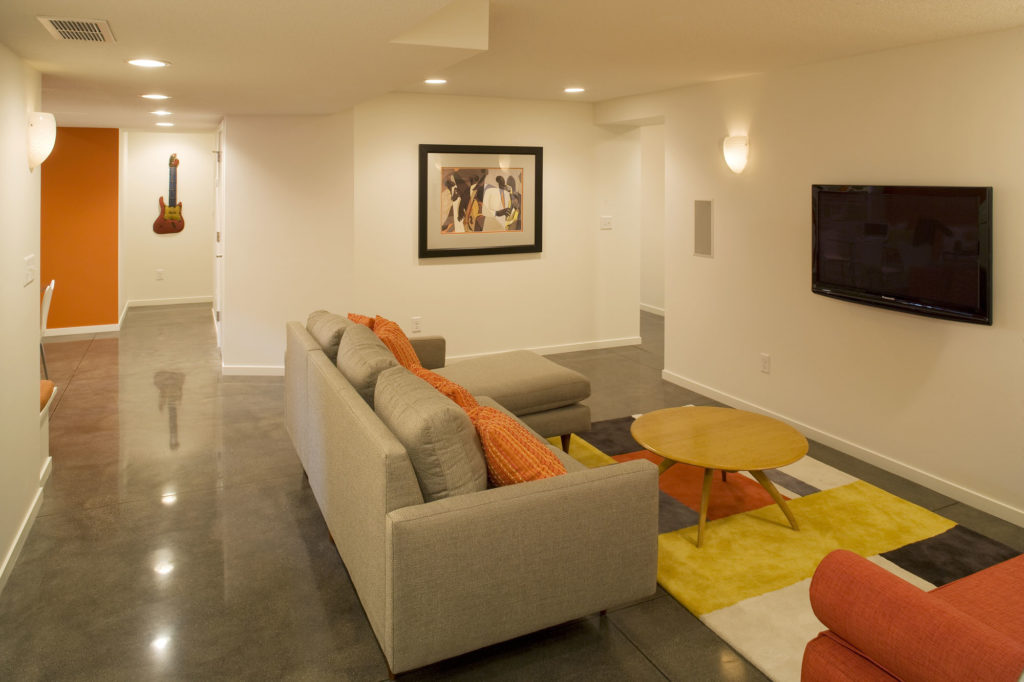 Fresh living space created by being able to underpin the foundation.